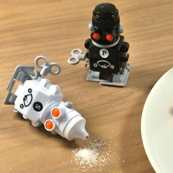 Suck UK 机器人盐椒瓶/Salt & Pepper'Bots