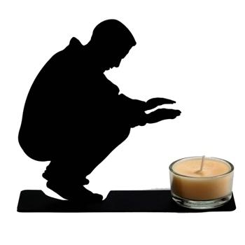 ARTORI DESIGN 黑色金属温暖烛光台/Warming Candle Holder
