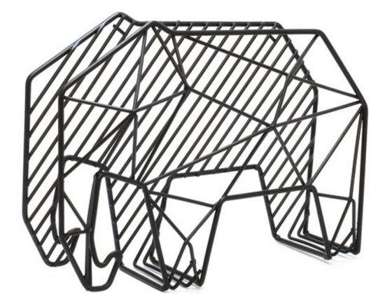 Kikkerland 创意大象信件杂志账单收纳墙钩/wall hook elephant 钢制收纳盒