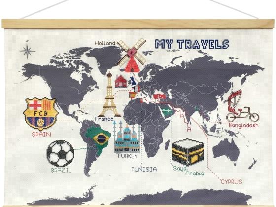 Suck UK 十字绣地图/Cross Stitch Map