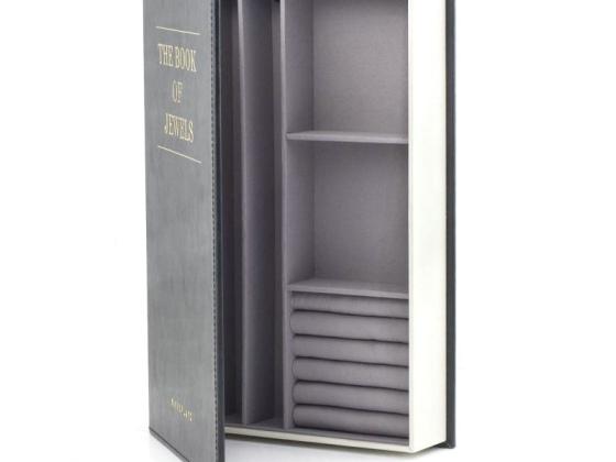 Kikkerland 书本式首饰盒/Book of Treasures Jewelry Box