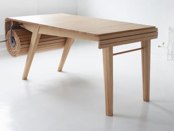 滚动伸缩桌