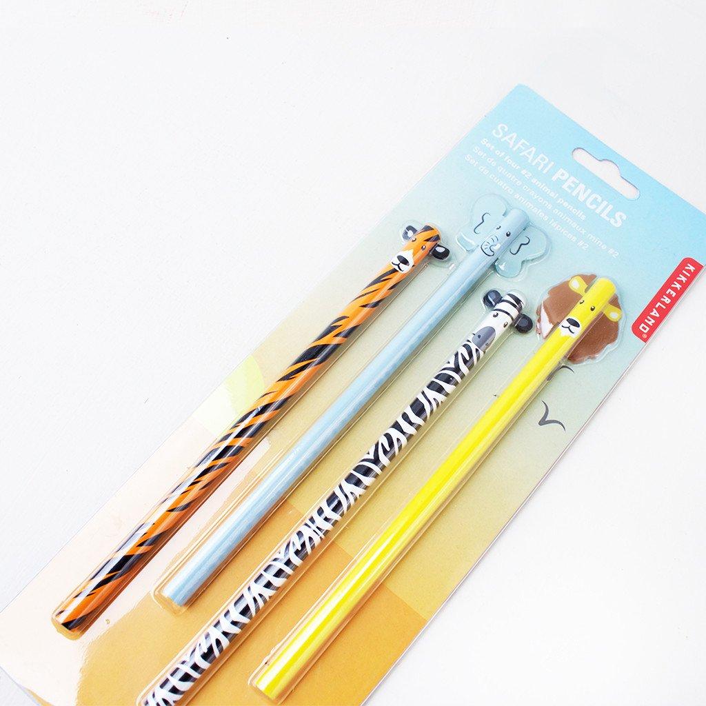 Kikkerland 动物铅笔集/Safari Animal Pencil