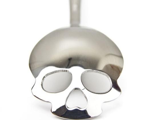 SUCK UK 创意骷髅头骨汤匙/Skull Sugar Spoon 创意调羹勺